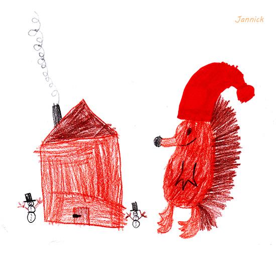 Weihnachtsbaum Gezeichnet.Der Kleine Igel Und Der Gast Im Weihnachtsbaum Written4me